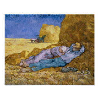 Poster Midi de Vincent van Gogh |, la sièste, après