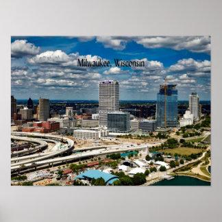 Poster Milwaukee, paysage urbain du Wisconsin