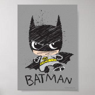 Poster Mini croquis classique de Batman