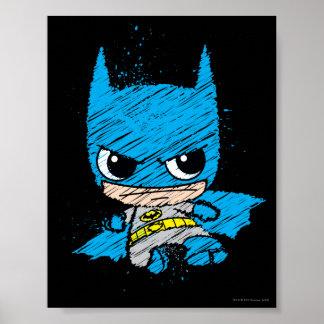 Poster Mini croquis de Batman