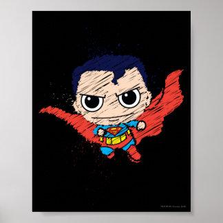 Poster Mini croquis de Superman
