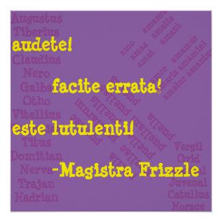 Poster Mme Frizzle dans le latin