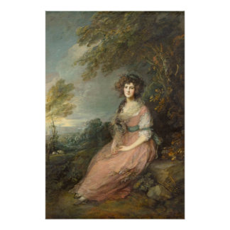 Poster Mme Richard Brinsley Sheridan, 1785 - 87