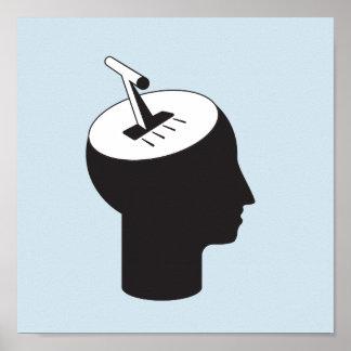 Poster mode de cerveau - levier de pensée de décalage