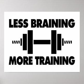 Poster Moins de Braining plus de formation