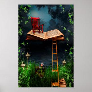 """Poster """"Mon livre a indiqué la mouche Come avec moi"""""""