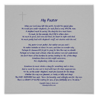 Poster Mon pasteur