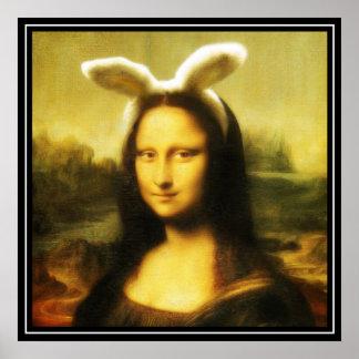 Poster Mona Lisa le lapin de Pâques