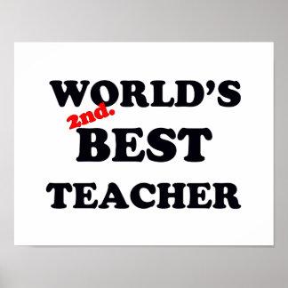 Poster Monde 2ème. Le meilleur professeur