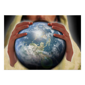 Poster Monde entier dans des ses mains