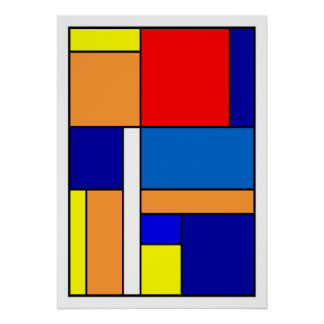 Poster Mondrian #10