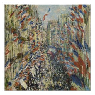 Poster Monet 1878 la rue Montorgueil à Paris