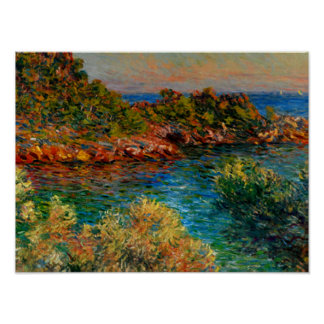 Poster Monet - près de Monte Carlo