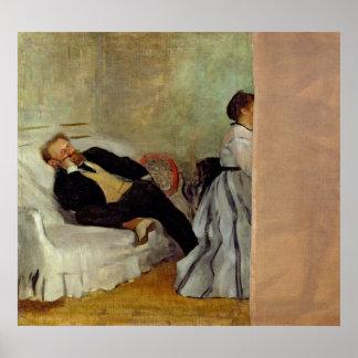 Poster Monsieur et Madame Edouard Manet d'Edgar Degas |