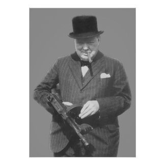 Poster Monsieur Winston Churchill