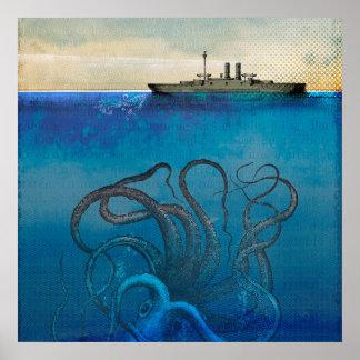 Poster Monstre de mer