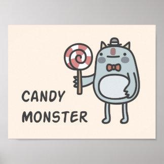Poster Monstre de sucrerie