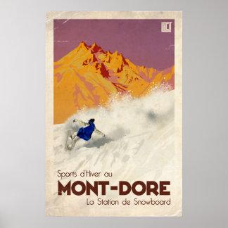 Poster Mont Dore - effet vintage