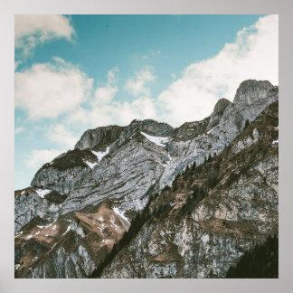Poster Montagne de Milou
