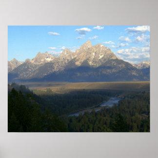 Poster Montagnes de Jackson Hole (parc national grand de