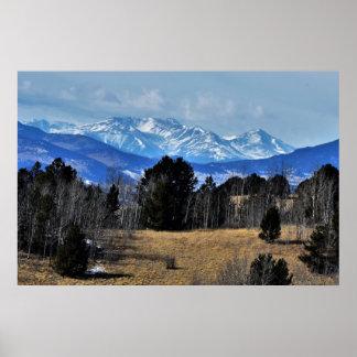 Poster Montagnes du Colorado