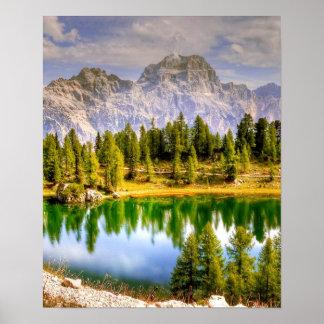 Poster Montagnes Italie de dolomite