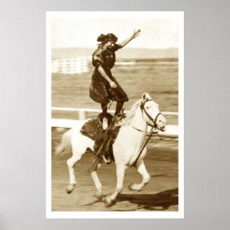 Poster Monte du cheval blanc