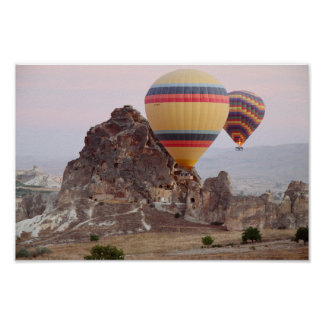 Poster Monte en ballon l'affiche de vol