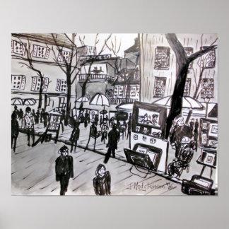"""Poster """"Montmartre """""""