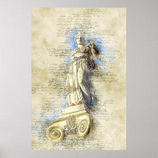 Poster Monument de marbre d'Acropole, Grèce