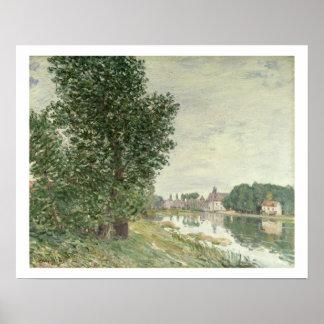 Poster Moret-sur-Loing d'Alfred Sisley  