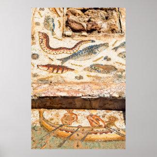 Poster Mosaïque romaine antique