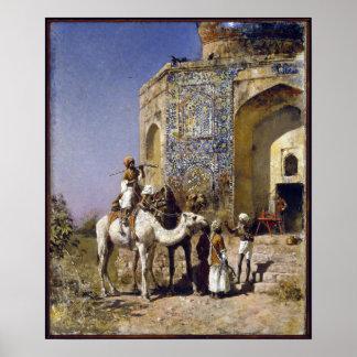 Poster Mosquée de seigneur Weeks The Old Bleu-Couvrir de