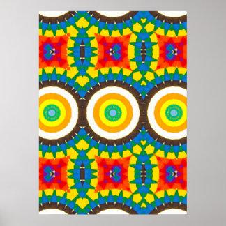 Poster Motif coloré de point de kaléidoscope