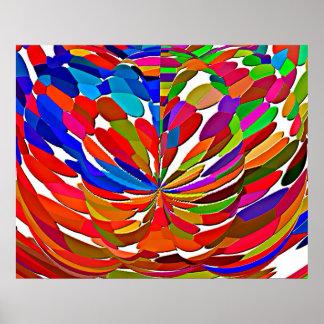 Poster Motif de fleur magique de Lotus de haute énergie