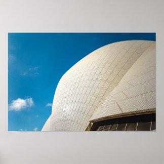 Poster Motif de toit de théatre de l'opéra de Sydney
