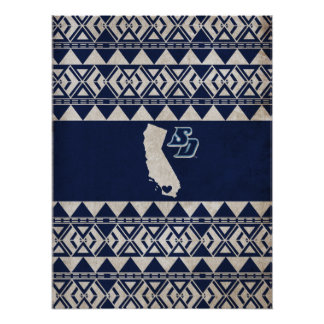 Poster Motif tribal d'USD | la Californie