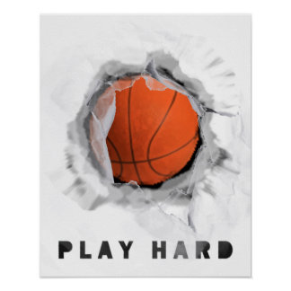 Poster motivation de basket-ball