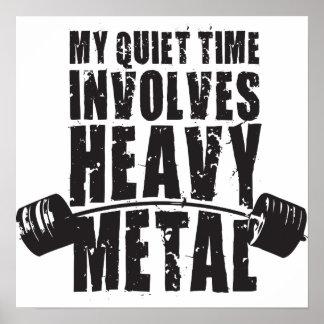 """Poster Motivation de """"haltérophilie"""" - métal lourd"""