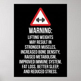Poster Motivation de séance d'entraînement - AVERTISSANT