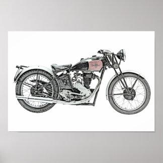 Poster Moto 1938 de guerrier de laine de bois