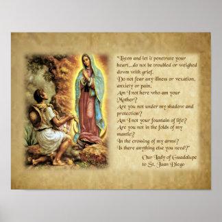 Poster Mots de notre Madame de Guadalupe à St Juan Diego