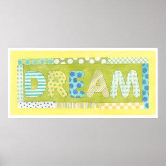 Poster Mots inspirés par rêve de Megan Meagher |