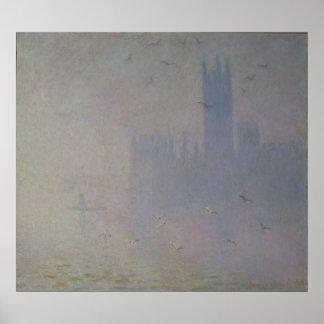 Poster Mouettes de Claude Monet | au-dessus des Chambres
