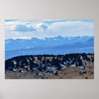 Poster Mountain View éloigné du Colorado