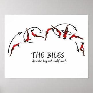 Poster Mouvement croulant gymnastique - les biles