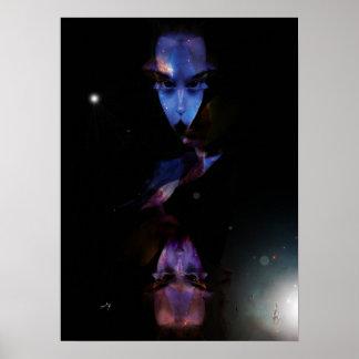 """Poster moyen modèle, """"The Alien Lady, Color"""""""