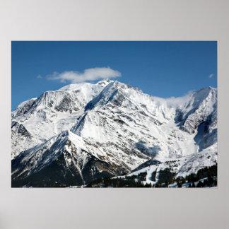 Poster Mt. Blanc avec des nuages
