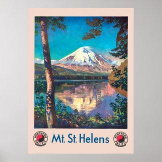 Poster Mt. St Helens, pour le cru Pacifique du nord
