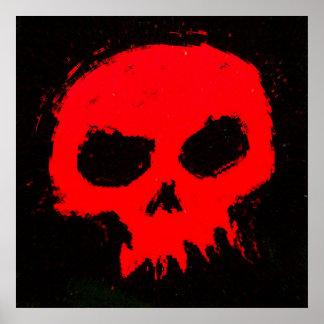 Poster Mur de crâne de Skully
